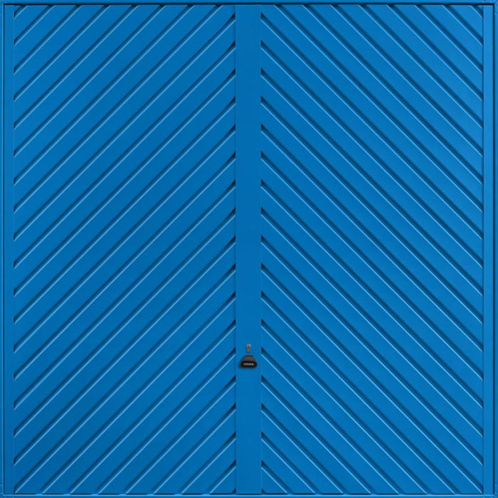 Chevron Signal Blue Garage Door