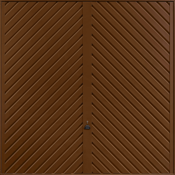 Chevron Terra Brown Garage Door