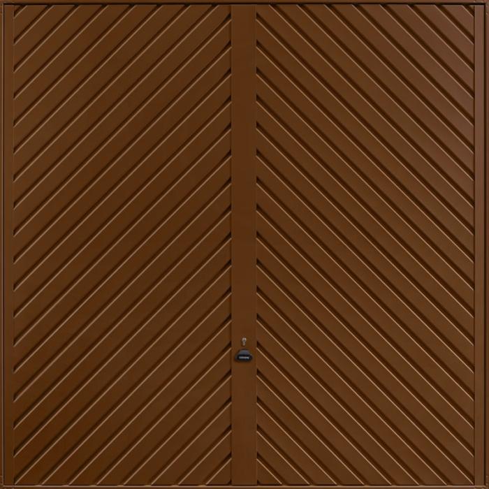 Chevron Terra Brown Garage Door