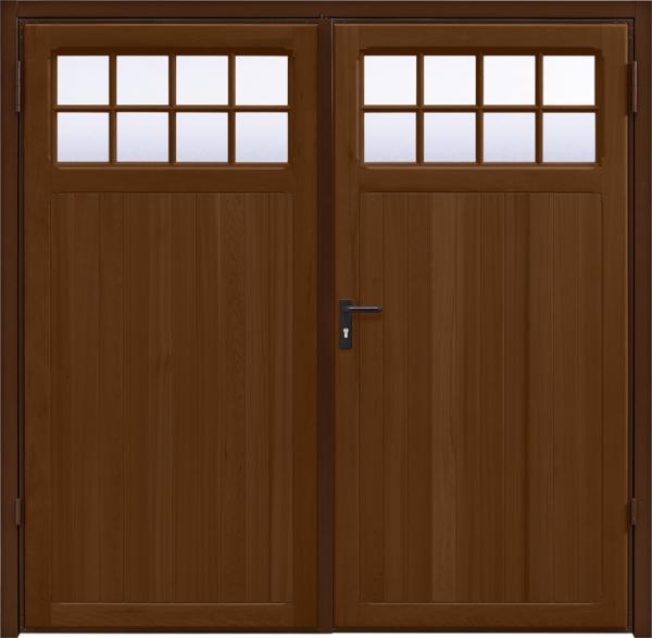 Ashton Antique Oak Side Hinged Garage Door