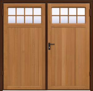 Ashton Light Oak Side Hinged Garage Door