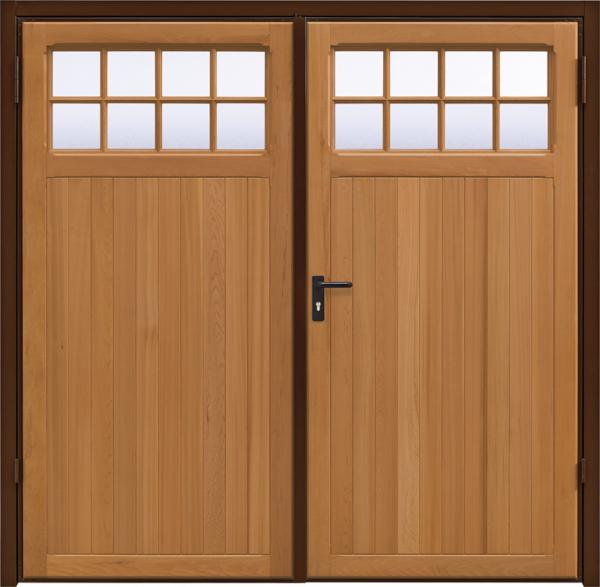 Ashton Light Oak Side Hinged Garage Door