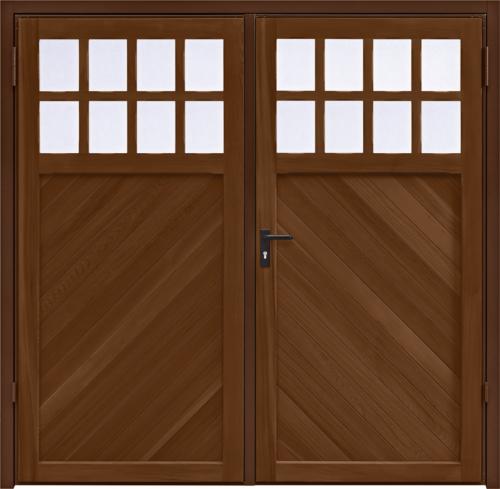 Ashton Chevron Antique Oak Side Hinged Garage Door