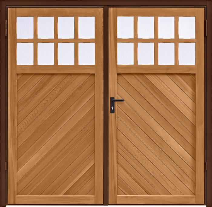 Ashton Chevron Light Oak Side Hinged Garage Door