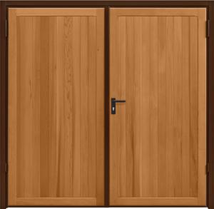 Kingsbury Light Oak Side Hinged Garage Door