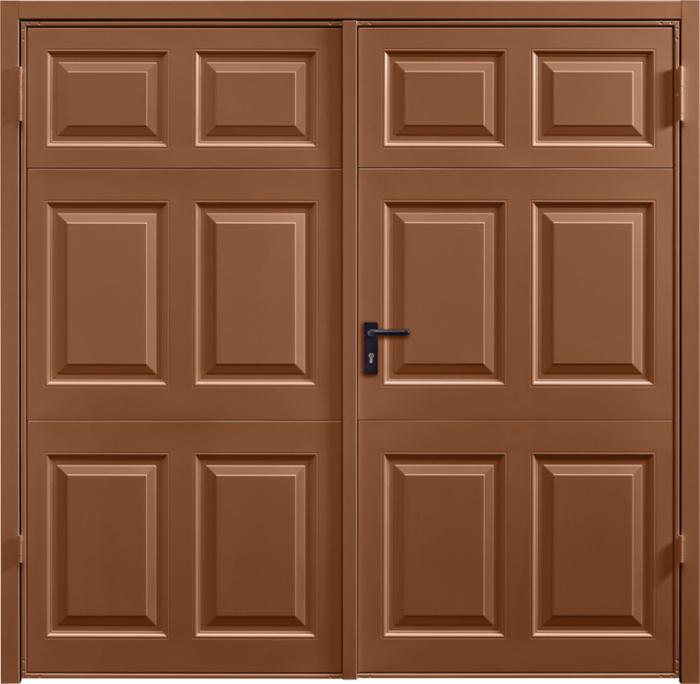Beaumont Clay Brown Side Hinged Garage Door