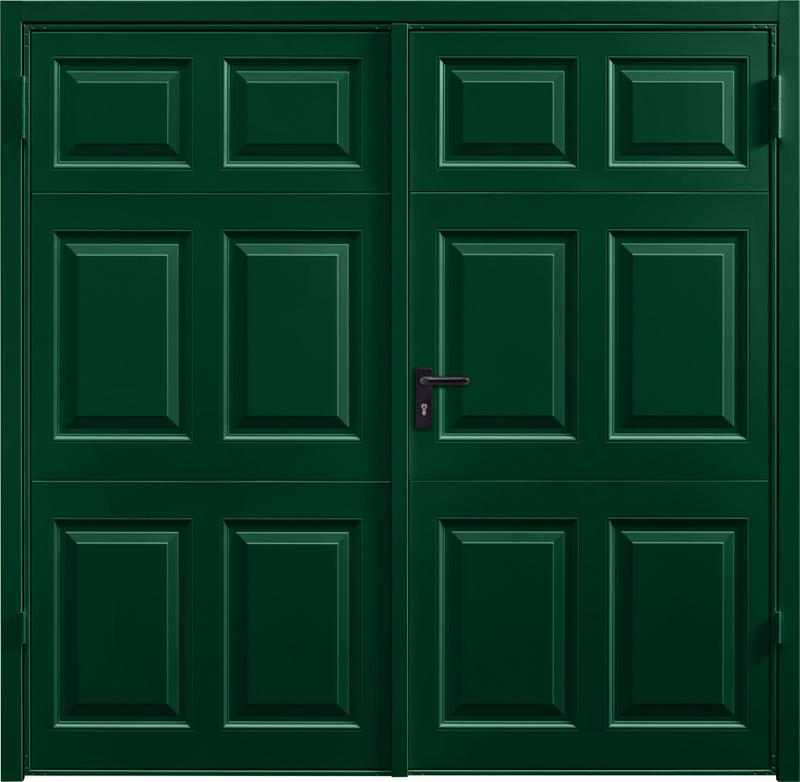 Beaumont Fir Green Beaumont Clay Brown Side Hinged Garage Door