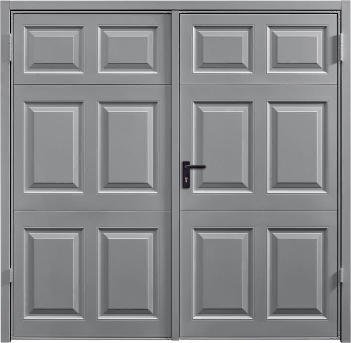 Beaumont Grey Aluminium Side Hinged Garage Door