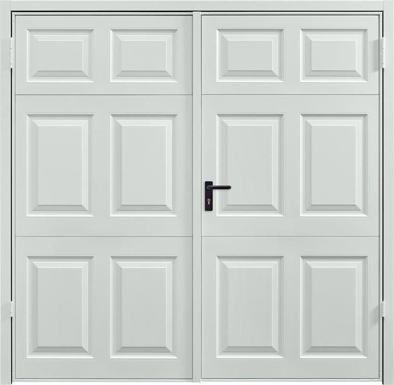 Beaumont Light Grey Side Hinged Garage Door