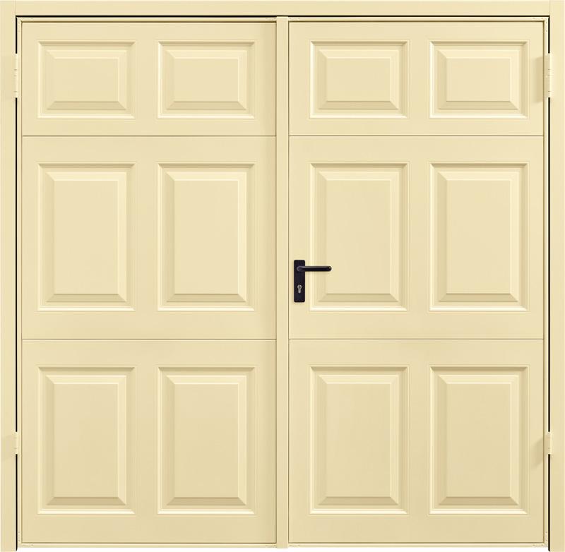 Beaumont Light Ivory Side Hinged Garage Door