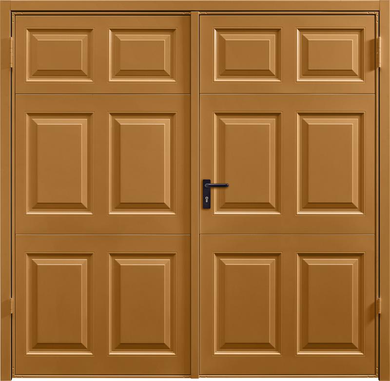 Beaumont Ochre Brown Side Hinged Garage Door