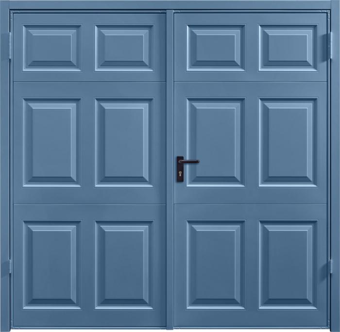 Beaumont Pigeon Blue Side Hinged Garage Door