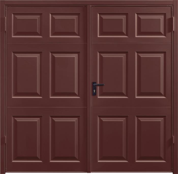 Beaumont Rosewood Solid Side Hinged Garage Door