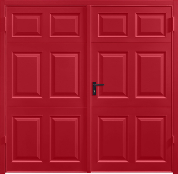 Beaumont Ruby Red Beaumont Rosewood Solid Side Hinged Garage Door