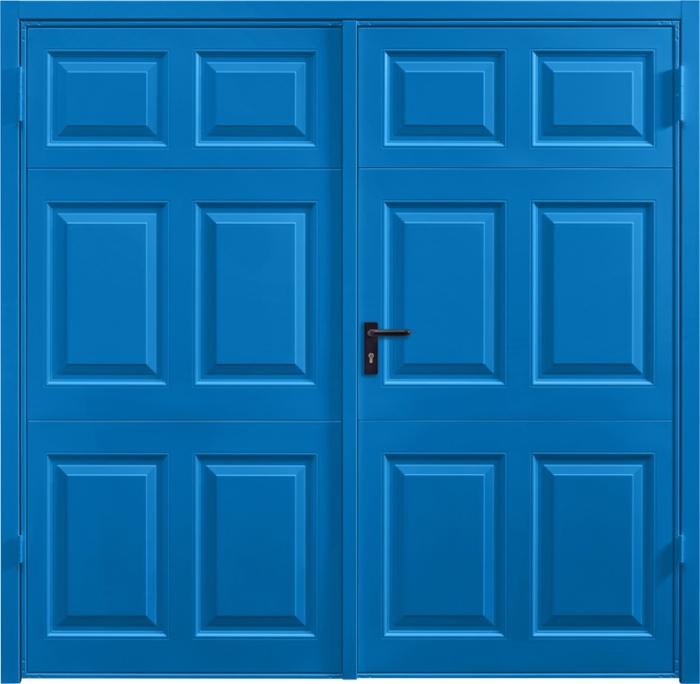Beaumont Signal Blue Side Hinged Garage Door