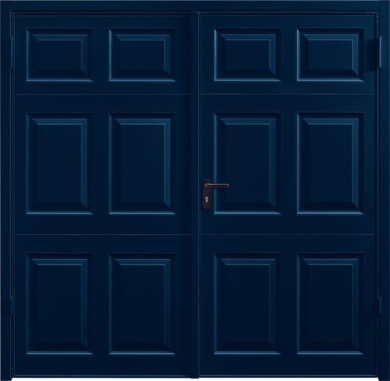 Beaumont Steel Blue Side Hinged Garage Door