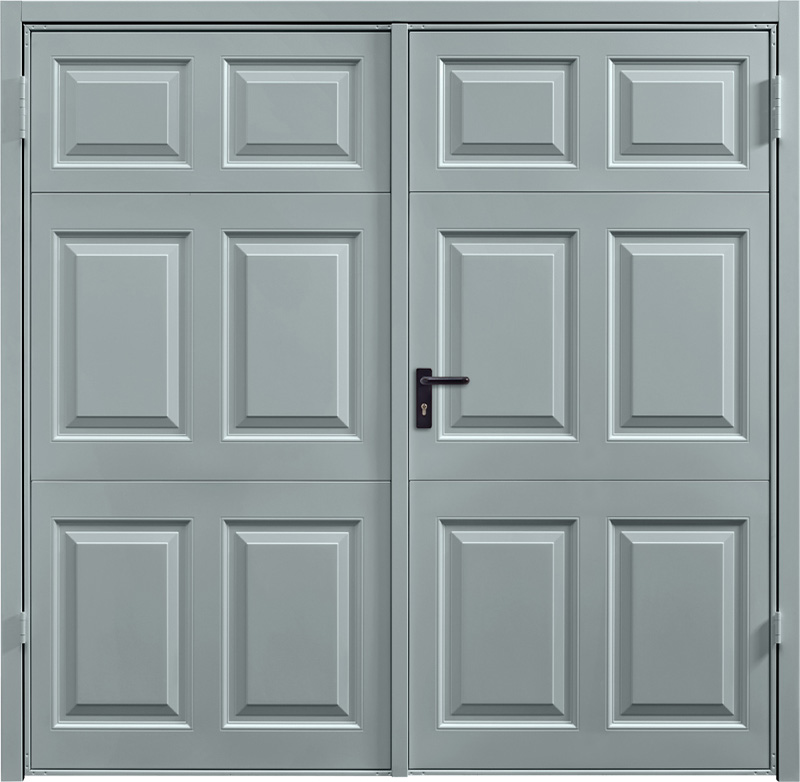Beaumont Window Grey Side Hinged Garage Door