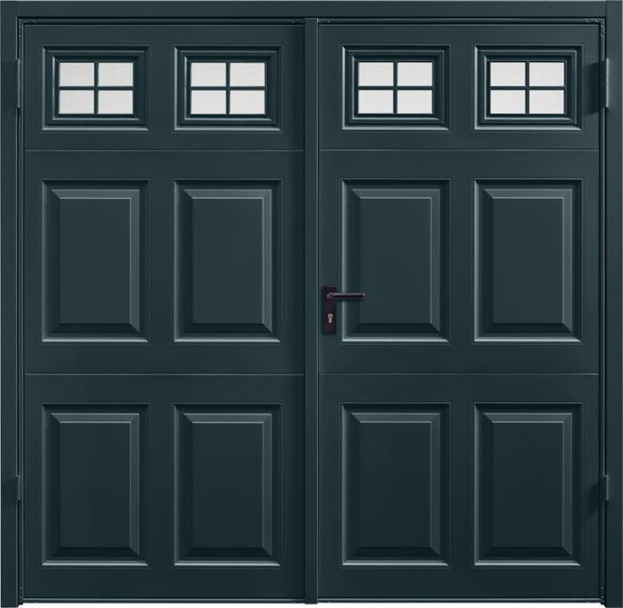 Beaumont Window Anthracite Grey Side Hinged Garage Door