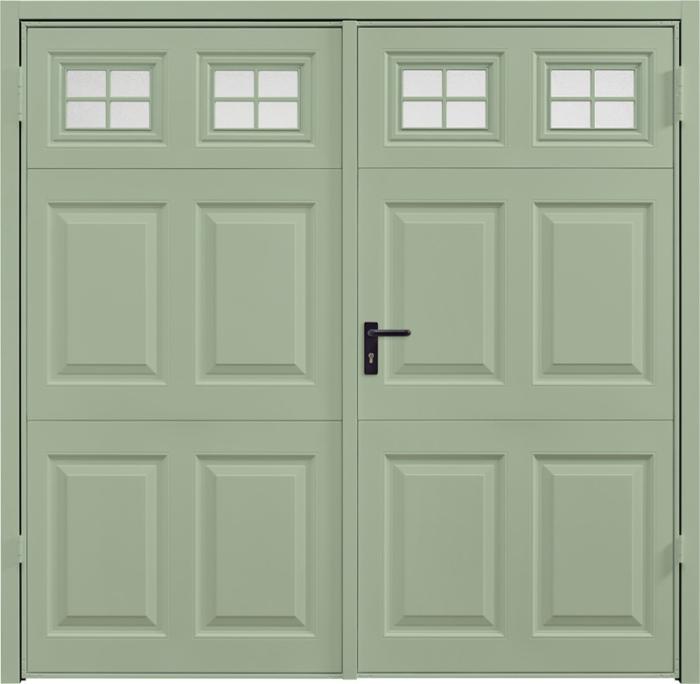 Beaumont Window Chartwell Green Side Hinged Garage Door