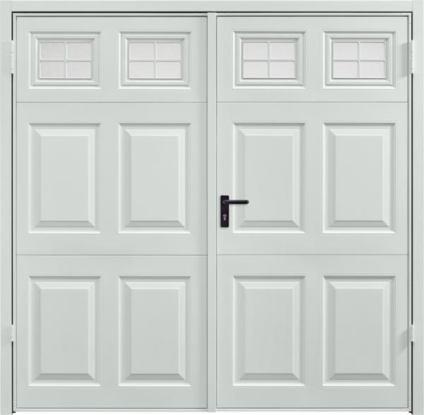 Beaumont Window Light Grey Side Hinged Garage Door
