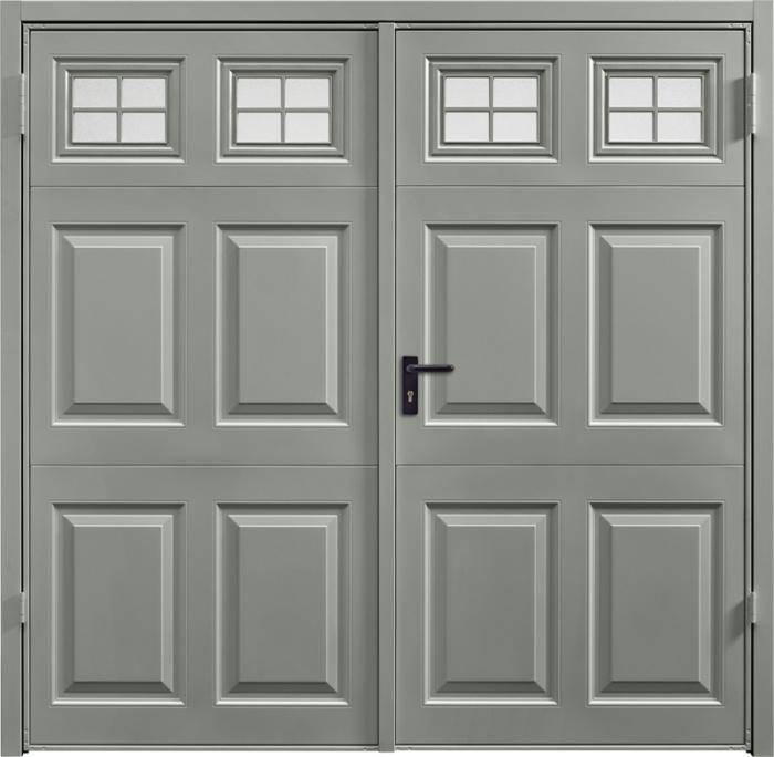 Beaumont Window Stone Grey Side Hinged Garage Door