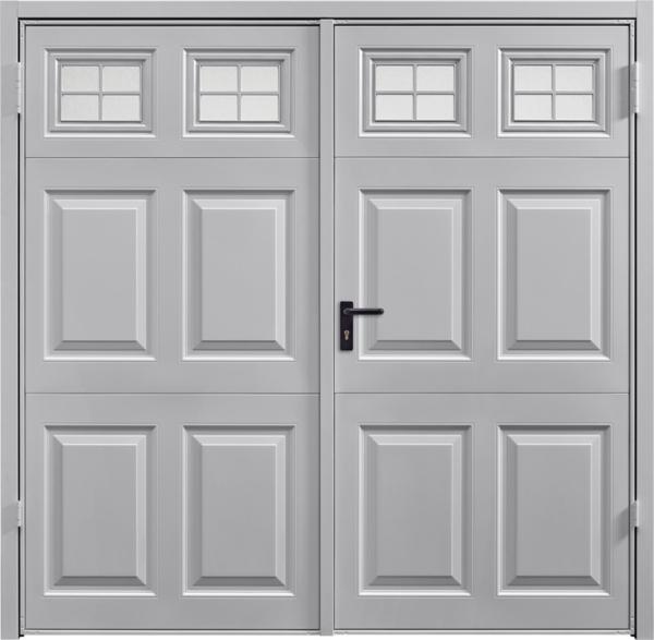 Beaumont Window White Aluminium Side Hinged Garage Door
