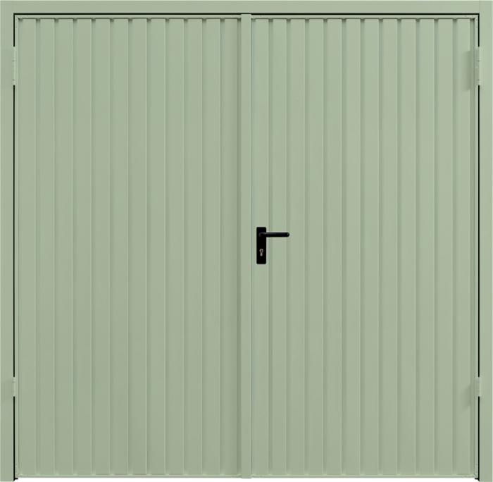 Carlton Chartwell Green Side Hinged Garage Door