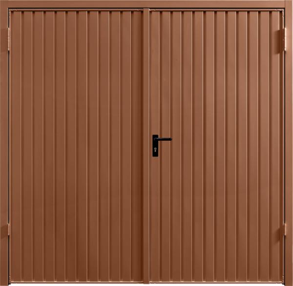 Carlton Clay Brown Side Hinged Garage Door