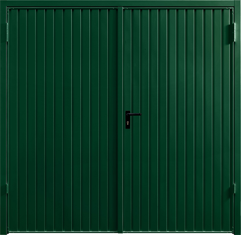 Carlton Fir Green Side Hinged Garage Door