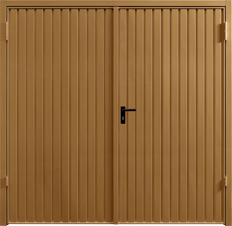 Carlton Golden Oak Solid Side Hinged Garage Door