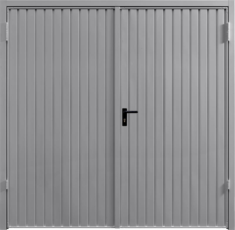 Carlton Grey Aluminium Side Hinged Garage Door