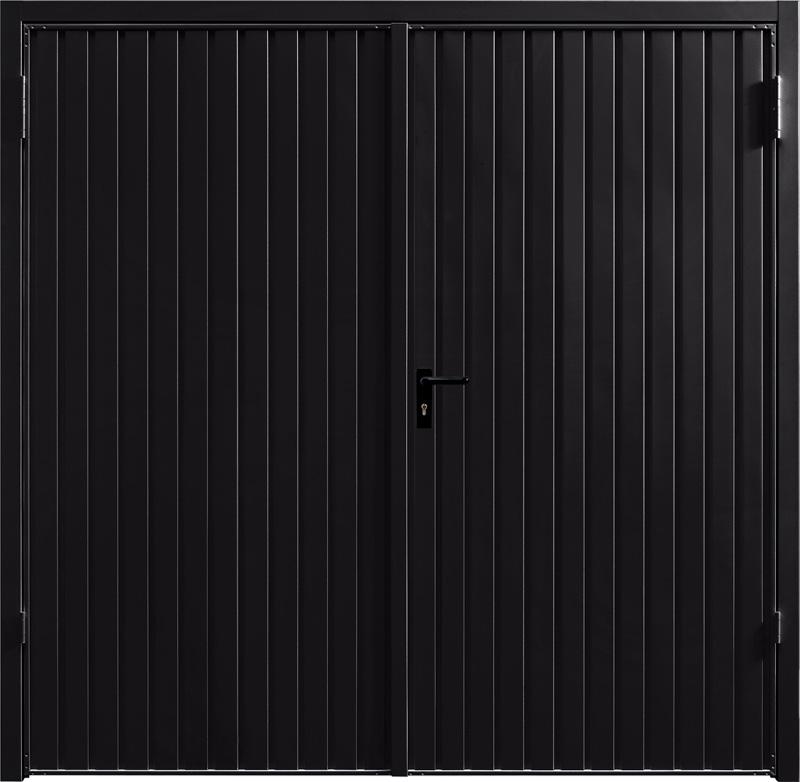 Carlton Jet Black Side Hinged Garage Door