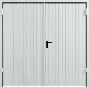 Carlton Light Grey Side Hinged Garage Door