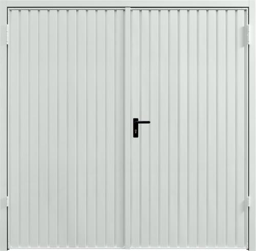 Carlton Light Grey Side Hinged Garage Door