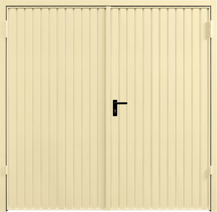 Carlton Light Ivory Side Hinged Garage Door