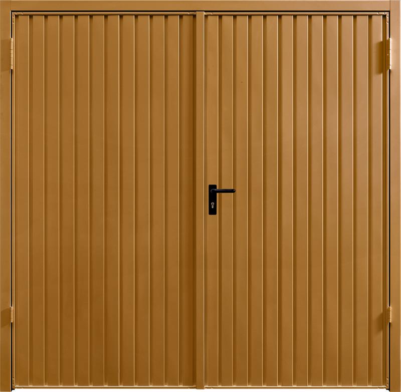 Carlton Ochre Brown Side Hinged Garage Door