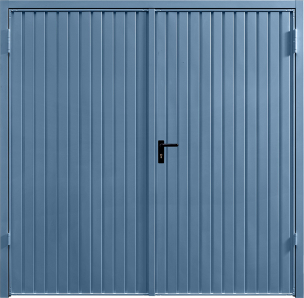 Carlton Pigeon Blue Side Hinged Garage Door