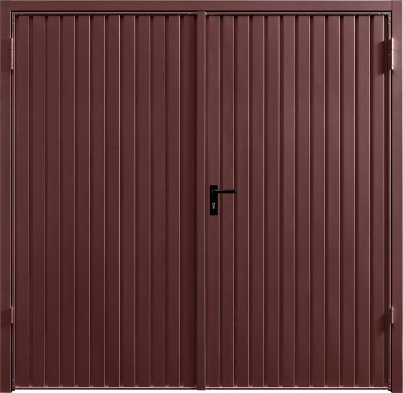 Carlton Rosewood Solid Side Hinged Garage Door