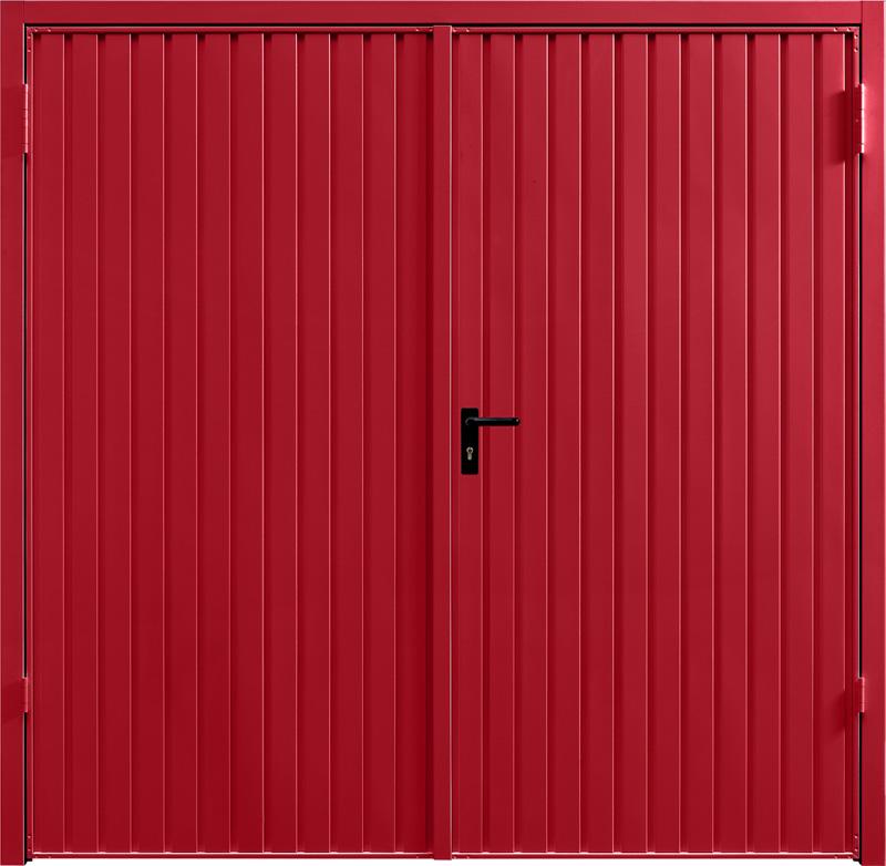 Carlton Ruby Red Side Hinged Garage Door