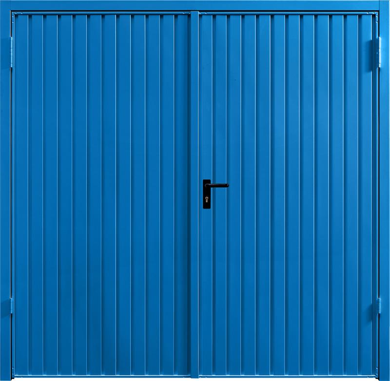 Carlton Signal Blue Carlton Steel Blue Side Hinged Garage Door