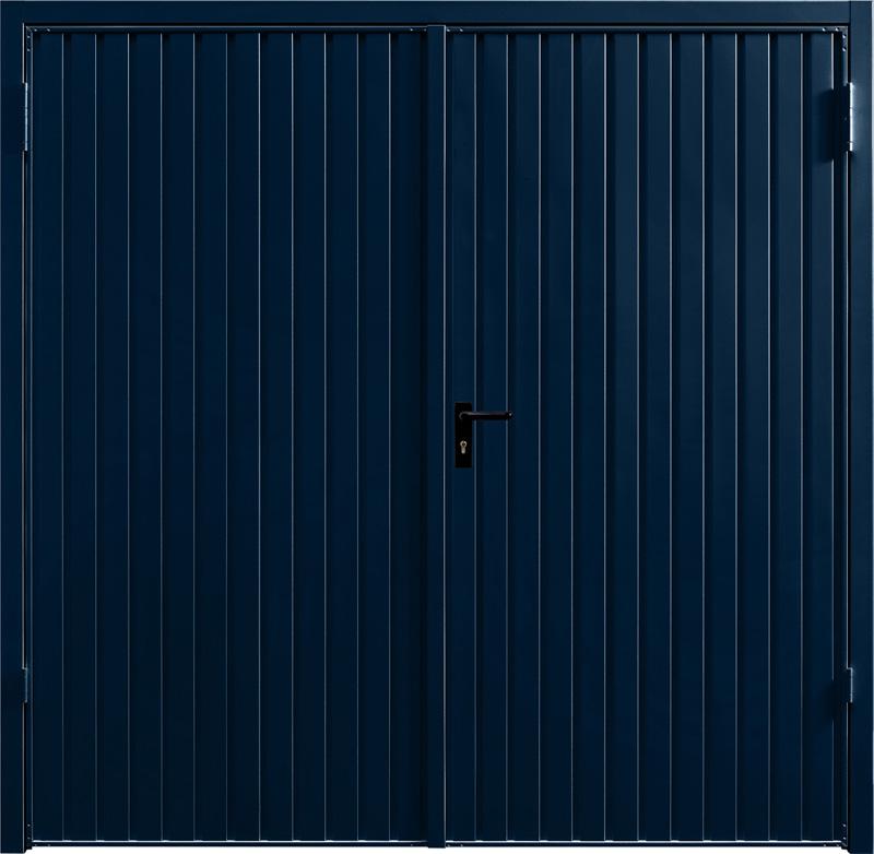 Carlton Steel Blue Side Hinged Garage Door