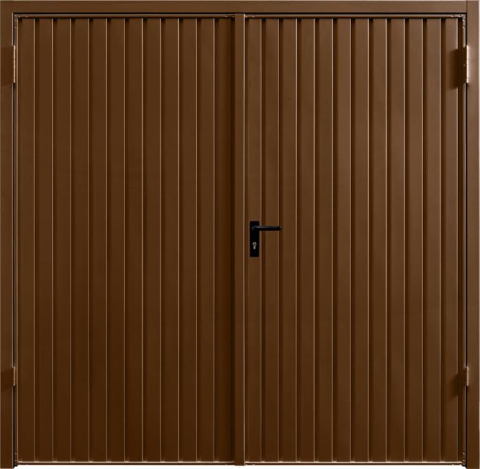 Carlton Terra Brown Side Hinged Garage Door
