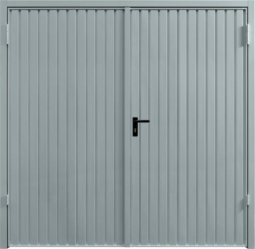 Carlton Window Grey Side Hinged Garage Door