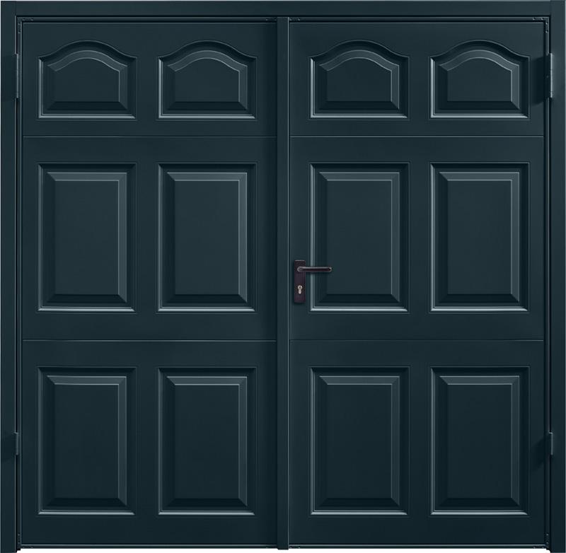 Cathedral Anthracite Grey Side Hinged Garage Door