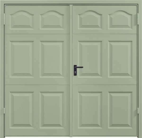 Cathedral Chartwell Green Side Hinged Garage Door