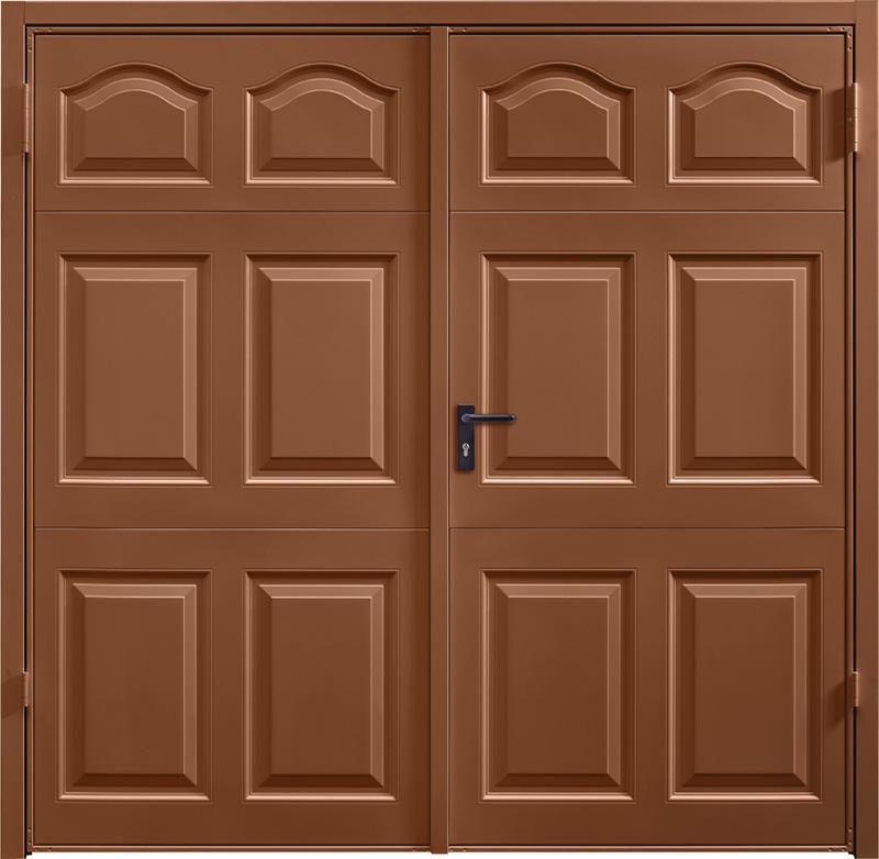 Cathedral Clay Brown Side Hinged Garage Door