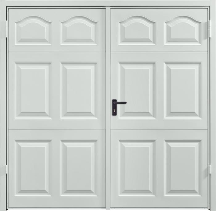 Cathedral Light Grey Side Hinged Garage Door