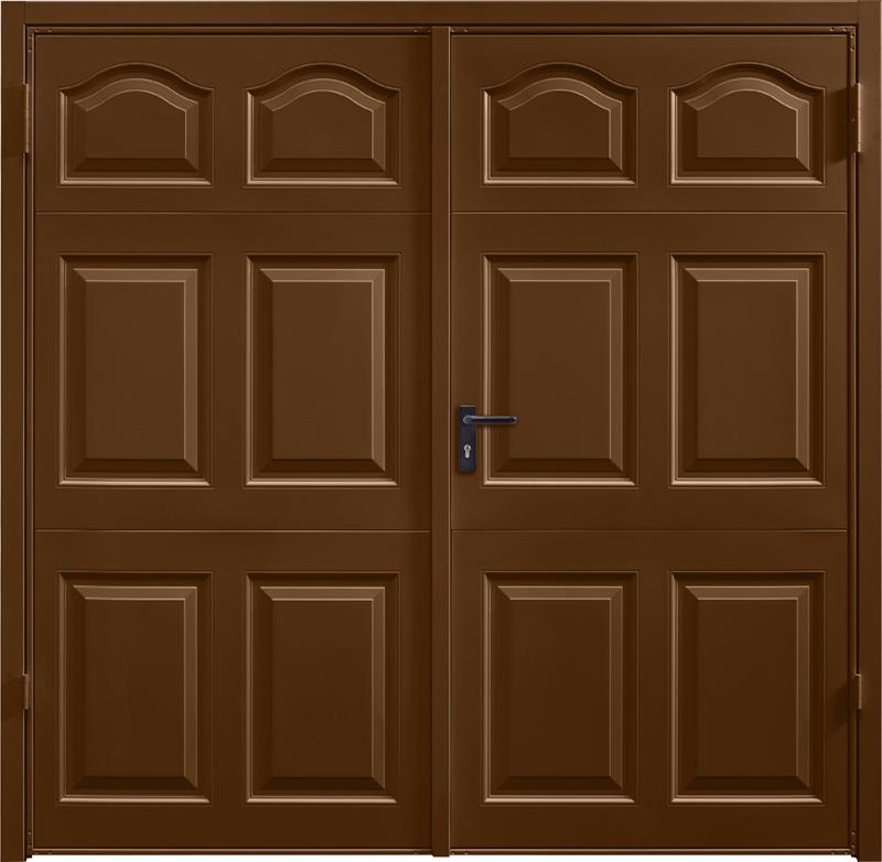 Cathedral Terra Brown Side Hinged Garage Door