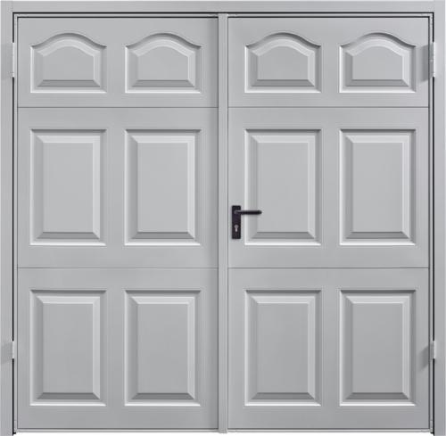 Cathedral White Aluminium Side Hinged Garage Door