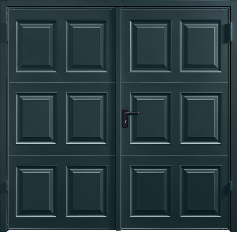 Georgian Anthracite Grey Side Hinged Garage Door